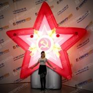 Надувная Звезда с орденом и подсветкой