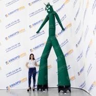 Надувной рекламный Аэромен зеленый