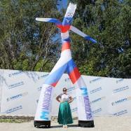 Танцующий аэромен триколор реклама