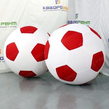 Надувные футбольные мечи красно-белые 2 шт.