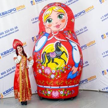 Матрешка блондинка надувная роспись городецкая 3 метра