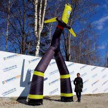 Надувная фигура аэромен черно-желтый 5м