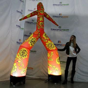 Надувная фигура аэромен хохлома 3м с подсветкой