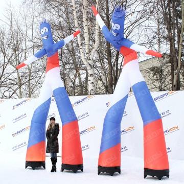 Аэромен с изображением российского триколора