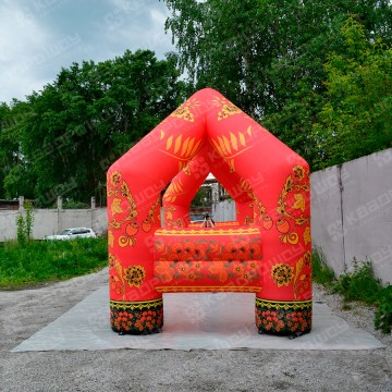 Декоративная арка Хохлома
