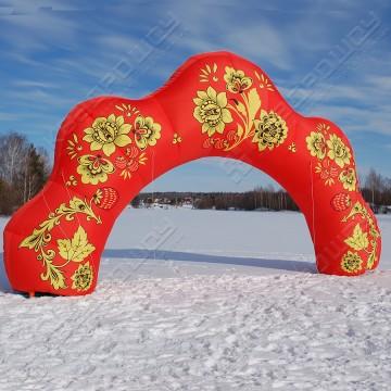 надувная арка хохлома