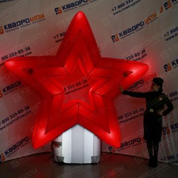 Надувная декорация Звезда полая с подсветкой