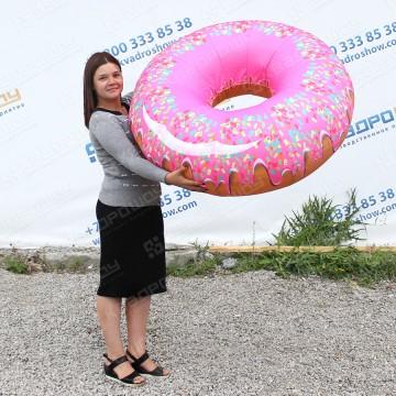 большая надувная фигура пончик