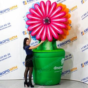 гигансткие цветы для рекламы магазина цветов