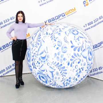 Большой  надувной мяч Гжель