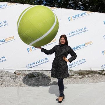 Большой надувной теннисный мяч диаметром 1 метр