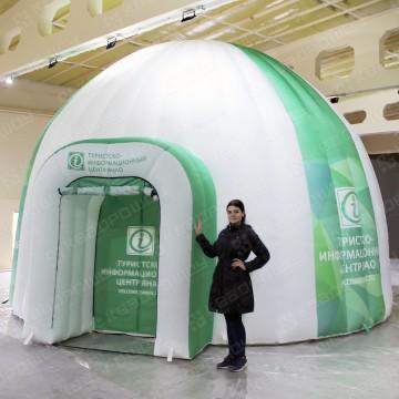 ббольшой шатер иглу с полноцветной печатью для туристического центра