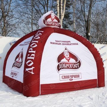 Брендированная фирменная надувная палатка