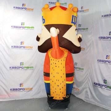 Двуликий надувной царь рекламный рукомах