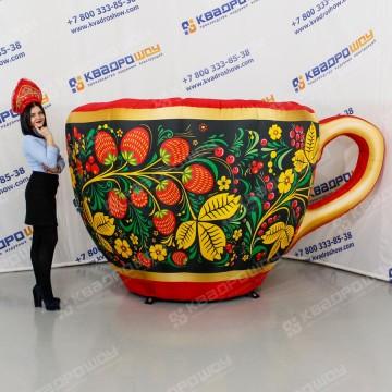 Чашка надувная с росписью под хохлому