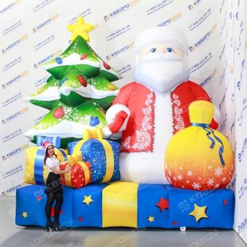 Надувной Дед Мороз для уличного декора