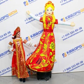 Надувная Девушка славянка в платье хохлома