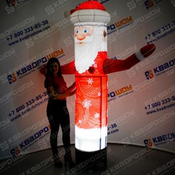 Новогодняя декорация Дед Мороз с подсветкой