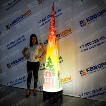 Фигура новогодняя конус с подсветкой