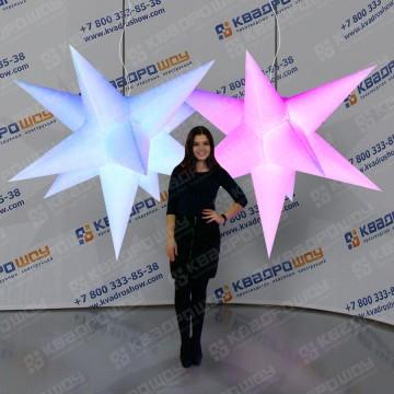 Надувные звезды подвесные декорации с подсветкой
