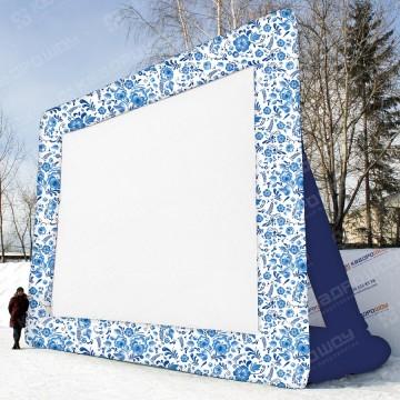 Экран для летнего кинотеатра Черная Хохлома