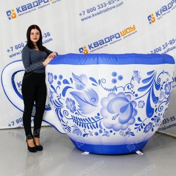 Надувная декорация Чашка гжель