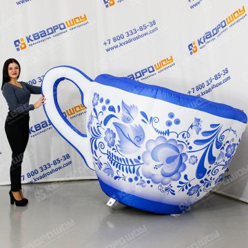 Надувная фигура Чашка Гжель