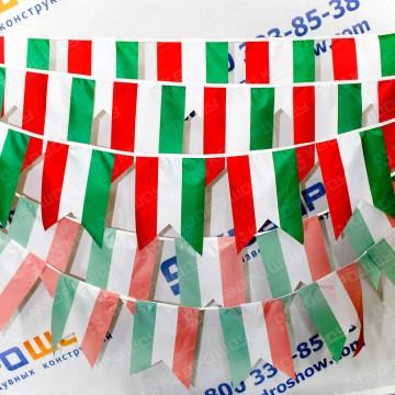 флажки италии на веревке