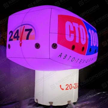 Геостат с фиолетовой подсветкой надувная конструкция