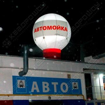 Надувная реклама на крышу шар