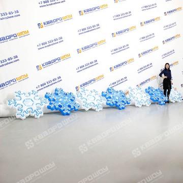 Новогодняя надувная гирлянда Снежинки