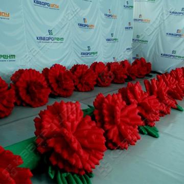 Надувная декорация гирлянда из цветов