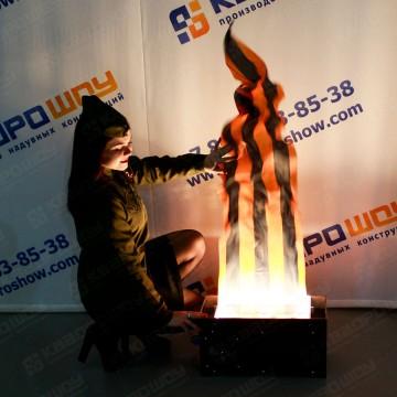 Воздушная декорация огонь георгиевская лента