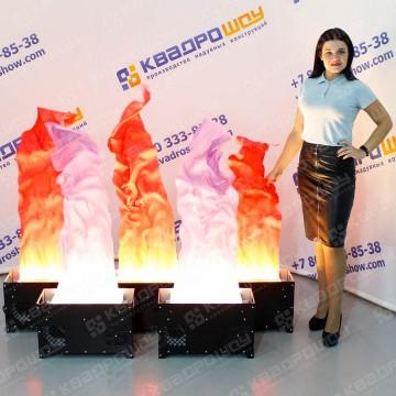 Имитация огня красный сиреневый цвет