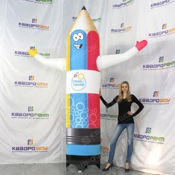 Огромный надувной карандаш для рекламы