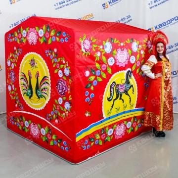 Торговая палатка с городецкой росписью