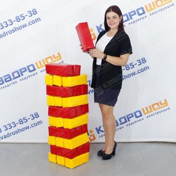 Игра дженга цветные блоки ПВХ