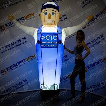 Фигура надувная Автомастер сто с подсветкой