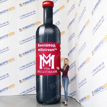 Надувная бутылка вина