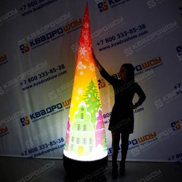 Надувной новогодний Конус с подсветкой