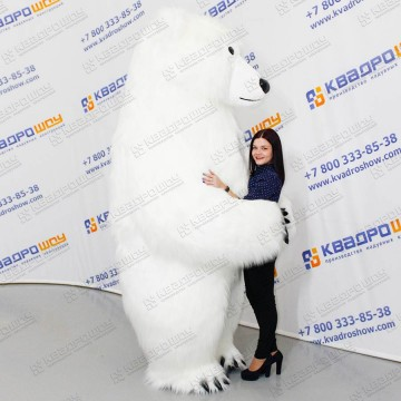 костюм белого мехового медведя для аниматора