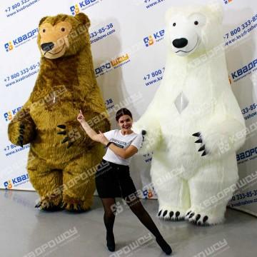 Меховой надувной костюм Медведь