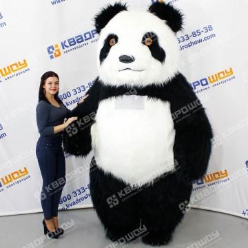 Надувной костюм Панда длинный ворс
