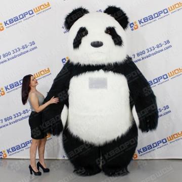 Надувной меховой костюм Панда
