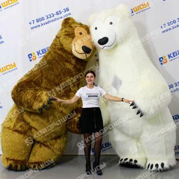Костюм бурый Медведь надувной