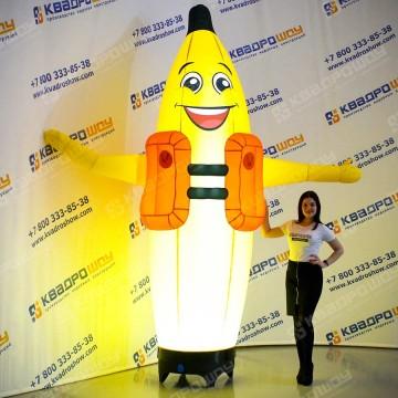 Надувной Банан зазывала с подсветкой