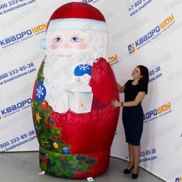 Дед Мороз надувной Матрешка