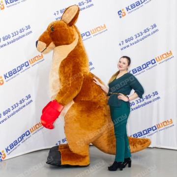 надувной ростовой меховой костюм кенгуру