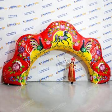 Надувная арка Городецкая роспись