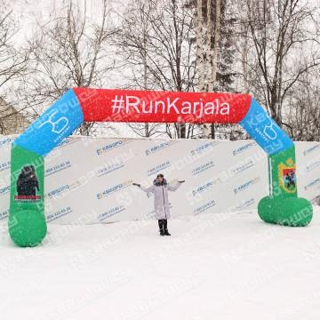 Надувные ворота старт финиш для зимних соревнований
